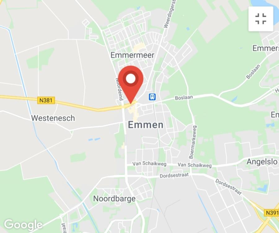 Kaart coronatest-emmen.com - Corona testlocaties Emmen